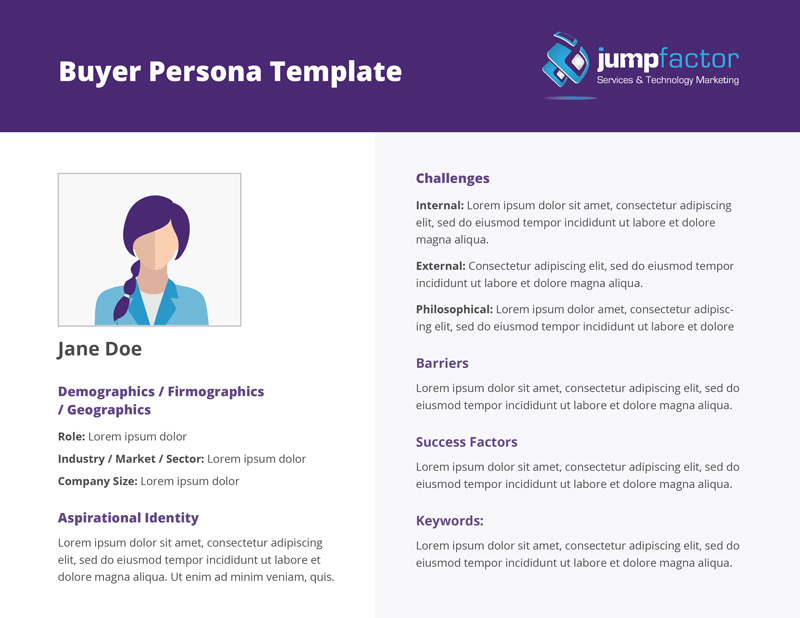 B2B Lead Nurturing: Jumpfactor Buyer Persona Template