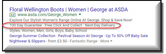 ad extensions in google adwords for b2b